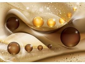 Fotobehang Vlies | Modern | Goud, Bruin | 368x254cm (bxh)