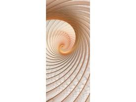 Deursticker Muursticker Abstract | Crème | 91x211cm