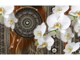 Fotobehang Vlies   Klassiek, Orchidee   Bruin   368x254cm (bxh)