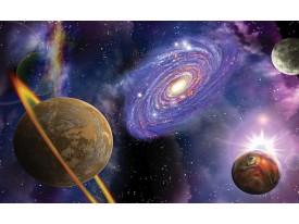 Fotobehang Papier Universum | Blauw, Paars | 254x184cm