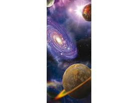 Fotobehang Planeten | Paars | 91x211cm