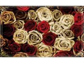 Fotobehang Papier Rozen | Crème, Rood | 254x184cm