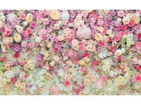 Fotobehang Vlies | Bloemen | Roze, Crème | 368x254cm (bxh)