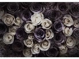 Fotobehang Vlies | Rozen, Bloemen | Crème | 368x254cm (bxh)