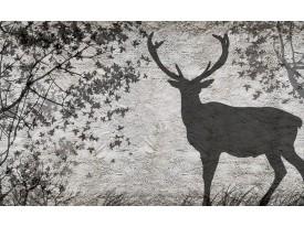 Fotobehang Hert, Modern | Grijs | 104x70,5cm