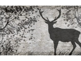 Fotobehang Vlies | Hert, Modern | Grijs | 368x254cm (bxh)