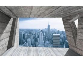 Fotobehang Skyline, Modern | Blauw | 152,5x104cm