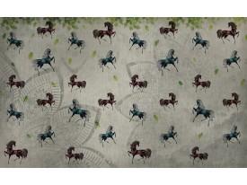 Fotobehang Paarden | Grijs | 208x146cm
