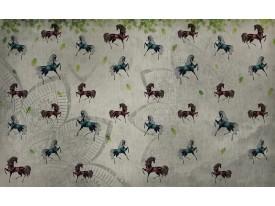 Fotobehang Vlies | Paarden | Grijs | 368x254cm (bxh)