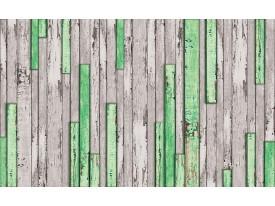 Fotobehang Vlies | Hout | Groen, Grijs | 368x254cm (bxh)