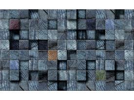 Fotobehang Vlies | Hout | Blauw | 368x254cm (bxh)