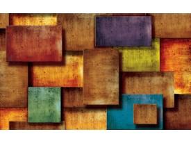 Fotobehang Vlies | 3D, Modern | Oranje | 368x254cm (bxh)