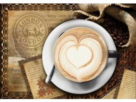 Fotobehang Papier Koffie, Keuken | Bruin | 254x184cm