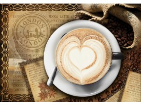 Fotobehang Koffie, Keuken   Bruin   104x70,5cm