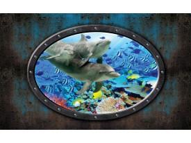 Fotobehang Dolfijnen | Blauw | 152,5x104cm