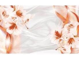 Fotobehang Bloemen, Modern   Oranje   416x254