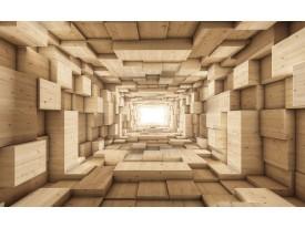 Fotobehang 3D, Hout | Bruin | 104x70,5cm