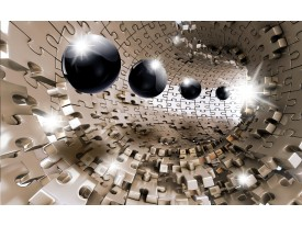 Fotobehang 3D, Design | Bruin | 312x219cm