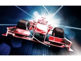 Fotobehang Vlies | Formule 2 | Rood | 368x254cm (bxh)