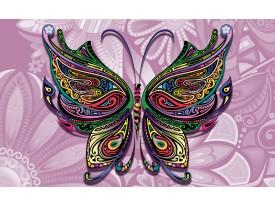 Fotobehang Vlinder, Abstract | Paars | 152,5x104cm
