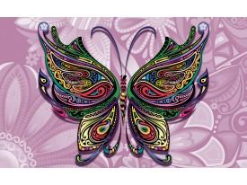 Fotobehang Vlies | Vlinder, Abstract | Paars | 368x254cm (bxh)
