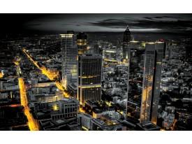 Fotobehang Vlies | Skyline | Grijs, Geel | 368x254cm (bxh)