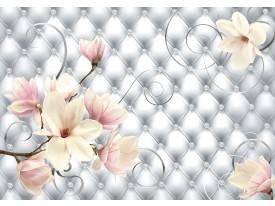 Fotobehang Magnolia, Modern | Zilver | 104x70,5cm