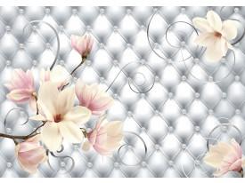 Fotobehang Vlies | Magnolia, Modern | Zilver | 368x254cm (bxh)