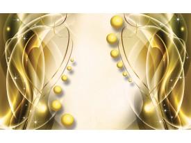Fotobehang Modern | Goud, Geel | 208x146cm