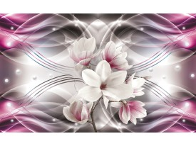 Fotobehang Vlies | Magnolia, Bloemen | Roze | 368x254cm (bxh)