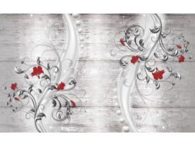 Fotobehang Modern | Rood, Grijs | 104x70,5cm