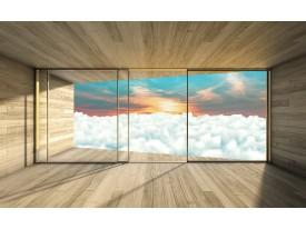Fotobehang Vlies   Wolken, Modern   Blauw   368x254cm (bxh)