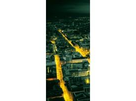 Fotobehang Steden | Groen, Geel | 91x211cm