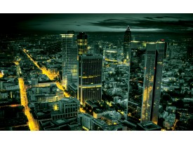 Fotobehang Vlies | Steden, Skyline | Groen | 368x254cm (bxh)