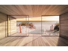 Fotobehang Strand | Crème | 104x70,5cm