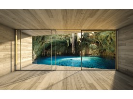 Fotobehang Vlies | Natuur, Modern | Blauw | 368x254cm (bxh)