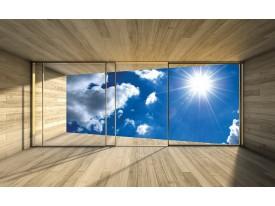 Fotobehang Vlies | Lucht, Modern | Blauw | 368x254cm (bxh)