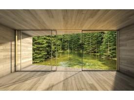 Fotobehang Bos, Modern | Groen | 104x70,5cm