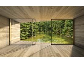 Fotobehang Vlies | Bos, Modern | Groen | 368x254cm (bxh)