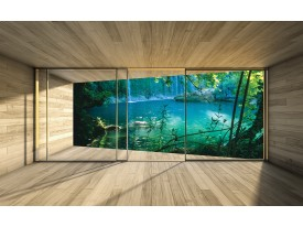 Fotobehang Natuur, Modern | Groen | 208x146cm