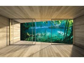 Fotobehang Vlies | Natuur, Modern | Groen | 368x254cm (bxh)