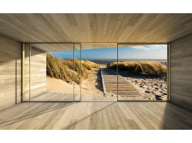 Fotobehang Strand, Modern | Crème | 416x254