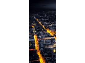 Deursticker Muursticker Steden | Zwart | 91x211cm
