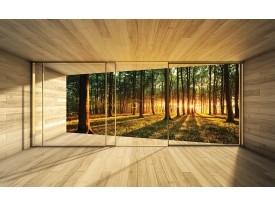 Fotobehang Bos | Bruin | 104x70,5cm