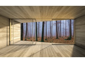 Fotobehang Vlies | Bos, Hout | Bruin | 368x254cm (bxh)