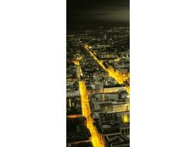 Fotobehang Steden | Geel, Groen | 91x211cm