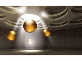 Fotobehang Design, 3D | Goud | 152,5x104cm