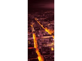 Fotobehang Steden | Geel | 91x211cm