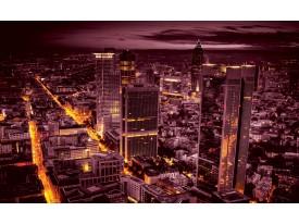 Fotobehang Skyline | Paars | 152,5x104cm