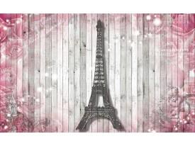 Fotobehang Vlies | Hout, Parijs | Roze | 368x254cm (bxh)